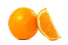 Oranges. Orange and orange slice on white background Stock Photo