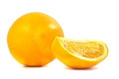 Oranges. Orange and slice orange on white background Stock Images