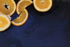 Oranges. On the blackboard stock images
