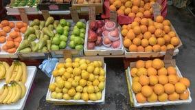Oranges. Fruits at Street Market in Hong Kong royalty free stock photos