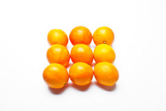 Oranges organised. In square pattern royalty free stock photo