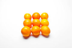 Oranges organised in square pattern Stock Photography