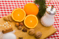 Oranges and other baking Stock Photography
