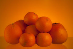 Oranges over orange Stock Image