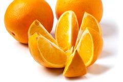 Oranges over white Stock Photo