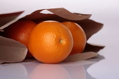 Oranges in package royalty free stock photos