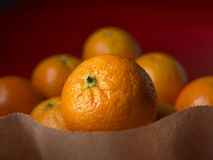 Oranges in a paper bag Royalty Free Stock Photography