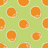 Oranges pattern. Seamless texture with ripe oranges Stock Images