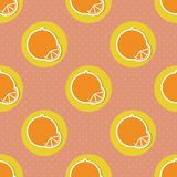 Oranges pattern. Seamless texture with ripe oranges Stock Photo