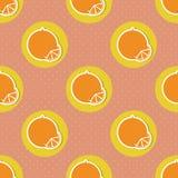 Oranges pattern. Seamless texture with ripe oranges Stock Photo