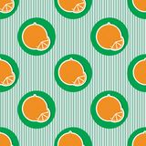 Oranges pattern. Seamless texture with ripe oranges Stock Image