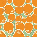 Oranges pattern. Seamless texture with ripe oranges Royalty Free Stock Photos