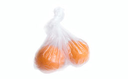 Oranges in plastic bag. Royalty Free Stock Images