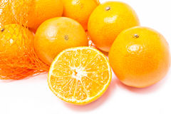 Oranges. Oranges with plastic net Royalty Free Stock Photos