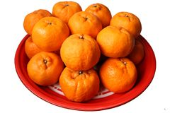 Oranges on plate Royalty Free Stock Image