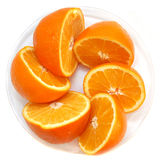 Oranges on a plate Royalty Free Stock Photography