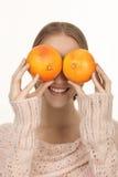 Oranges pour des yeux Images stock