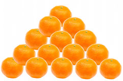 Oranges Pyramid Stock Photography