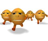 Oranges running Royalty Free Stock Photo