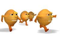 Oranges running Stock Image