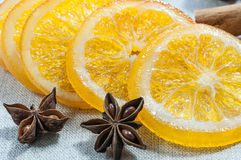 Oranges sèches Photos stock