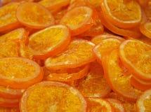 Oranges sèches saines au marché image libre de droits