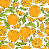 Oranges seamless pattern. Stock Images