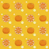 Oranges seamless pattern Royalty Free Stock Photography