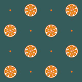 Oranges seamless pattern. Oranges on the green background seamless pattern.Seamless pattern can be used for wallpaper, pattern fills, web page background,surface Royalty Free Stock Photo