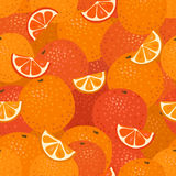 Oranges Seamless Pattern Royalty Free Stock Photo