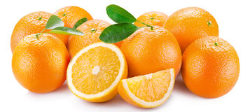 Oranges with segments Stock Image