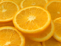 Oranges segments Royalty Free Stock Images