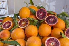 ORANGES, SICILY. SICILIAN CITRUS FRUITS, ORANGES - ITALY stock photography