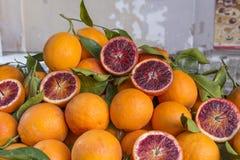 ORANGES, SICILY. SICILIAN CITRUS FRUITS, ORANGES - ITALY stock images