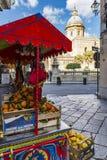 ORANGES, SICILY. SICILIAN CITRUS FRUITS, ORANGES - ITALY stock image