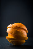Oranges slice pile Royalty Free Stock Photography
