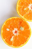 Oranges slice , Slice of fresh oranges against on white backgrou. Nd Stock Image