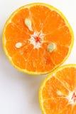 Oranges slice , Slice of fresh oranges against on white backgrou. Nd Stock Photo