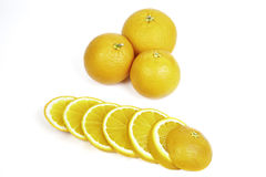 Oranges and slices Royalty Free Stock Photography