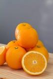 Oranges and slices Stock Photo