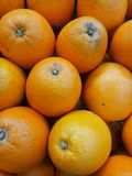 Oranges. Some oranges in a local market stock images
