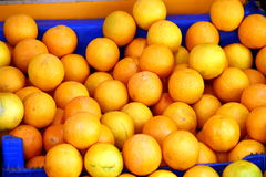 Oranges. Some oranges on the market royalty free stock photos