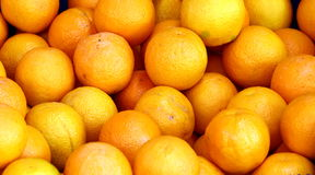 Oranges. Some oranges on the market stock image