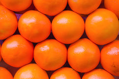 Oranges. Stack of oranges for sale at a market stock photo