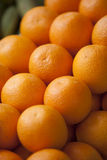Oranges in a store. Oranges stacked up in a store close up Royalty Free Stock Image