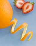 Oranges and strawberries Royalty Free Stock Photo
