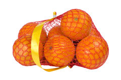 Oranges in a string bag Royalty Free Stock Photo