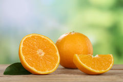 Oranges in summer with copyspace Stock Photo