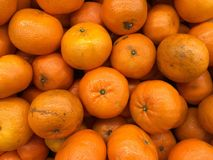 Oranges in supermarket Royalty Free Stock Photography