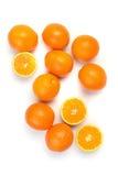 Oranges sur le blanc Images libres de droits